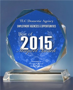 TLC Domestic Agency Receives 2015 Best of Newport Beach Award